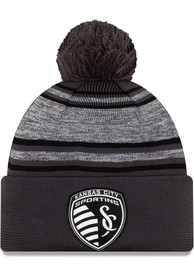 New Era Sporting Kansas City Black 2020 Official Cuff Knit Hat