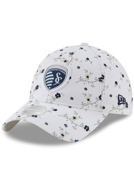 New Era Sporting Kansas City Womens White Blossom 9TWENTY Adjustable Hat