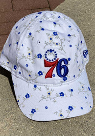 New Era Philadelphia 76ers White JR Blossom 9TWENTY Youth Adjustable Hat