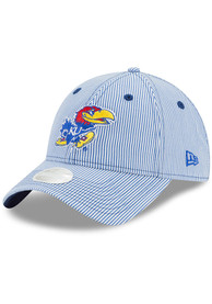 New Era Kansas Jayhawks Womens Blue Preppy 9TWENTY Adjustable Hat
