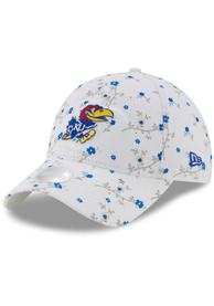 Kansas Jayhawks Womens New Era Blossom 9TWENTY Adjustable - White