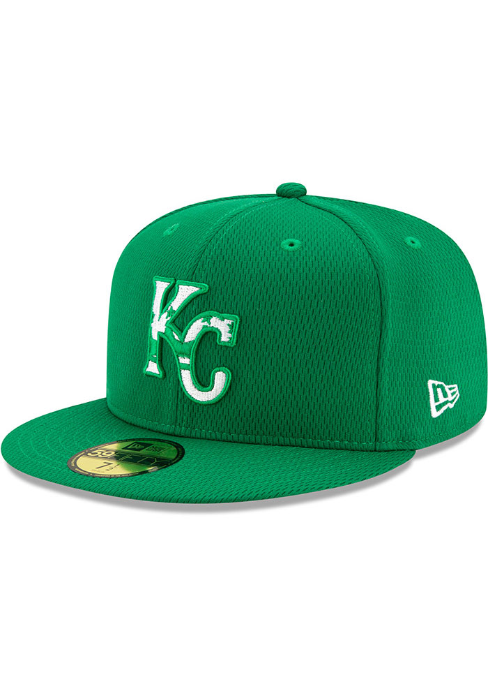 New Era Kansas City Royals Mens Green St. Pattys Day 2020 59FIFTY Fitted Hat - Image 1