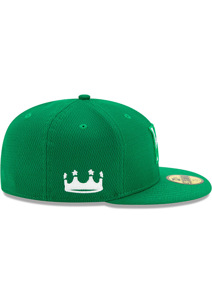 New Era Kansas City Royals Mens Green St. Pattys Day 2020 59FIFTY Fitted Hat - Image 6