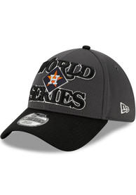Houston Astros New Era 2019 AL Champs LR 39THIRTY Flex Hat - Charcoal