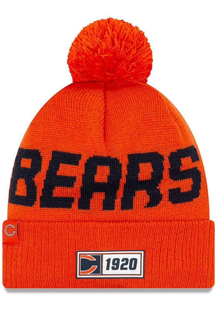 Chicago Bears New Era NFL 2019 Road Reverse Sport Knit - Orange