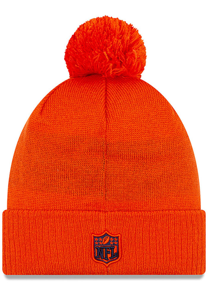 New Era Chicago Bears Orange NFL 2019 Road Reverse Sport Mens Knit Hat - Image 2