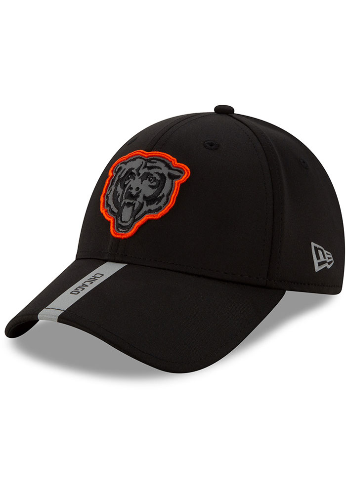 New Era Chicago Bears 2020 OTA Stretch Snap 9FORTY Adjustable Hat - Black - Image 2