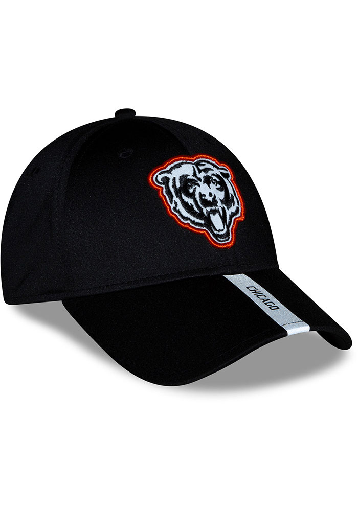 New Era Chicago Bears 2020 OTA Stretch Snap 9FORTY Adjustable Hat - Black - Image 3