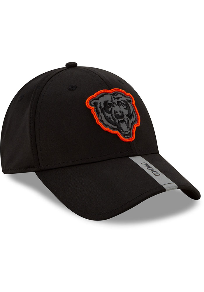 New Era Chicago Bears 2020 OTA Stretch Snap 9FORTY Adjustable Hat - Black - Image 4