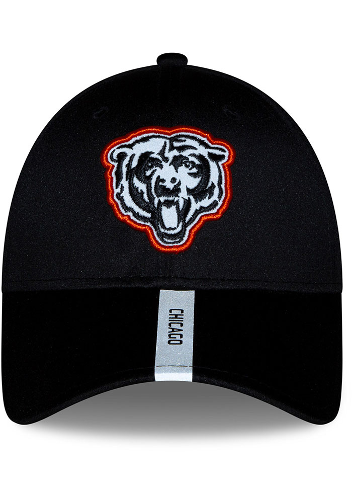 New Era Chicago Bears 2020 OTA Stretch Snap 9FORTY Adjustable Hat - Black - Image 5
