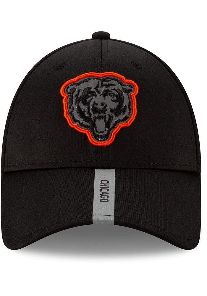 New Era Chicago Bears 2020 OTA Stretch Snap 9FORTY Adjustable Hat - Black - Image 6