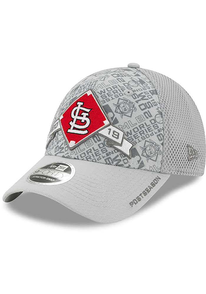New Era St Louis Cardinals 2019 LDS Locker Room SS 9FORTY Adjustable Hat - Grey - Image 1