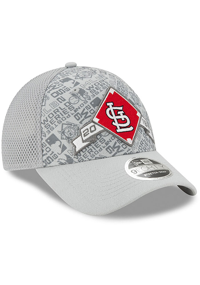 New Era St Louis Cardinals 2019 LDS Locker Room SS 9FORTY Adjustable Hat - Grey - Image 2