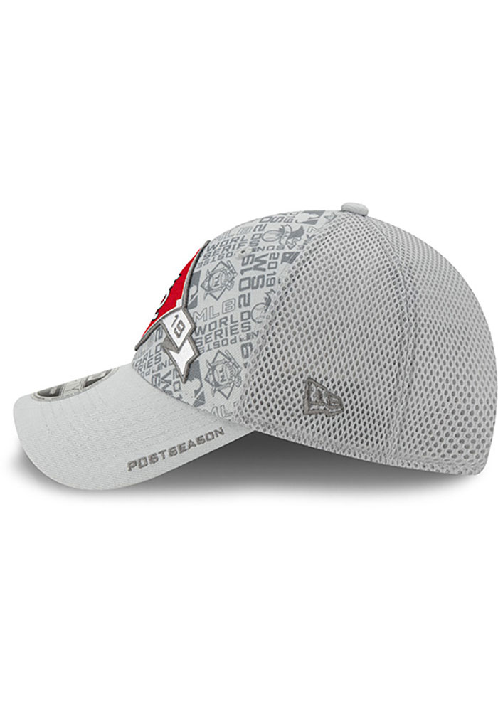 New Era St Louis Cardinals 2019 LDS Locker Room SS 9FORTY Adjustable Hat - Grey - Image 4
