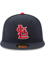St Louis Cardinals New Era 2019 Postseason Patch 59FIFTY Fitted Hat - Red