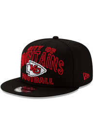 New Era Kansas City Chiefs Black NFL20 Draft Alt 9FIFTY Snapback Hat
