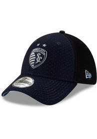 New Era Sporting Kansas City Navy Blue 2020 Jersey Hook 39THIRTY Flex Hat
