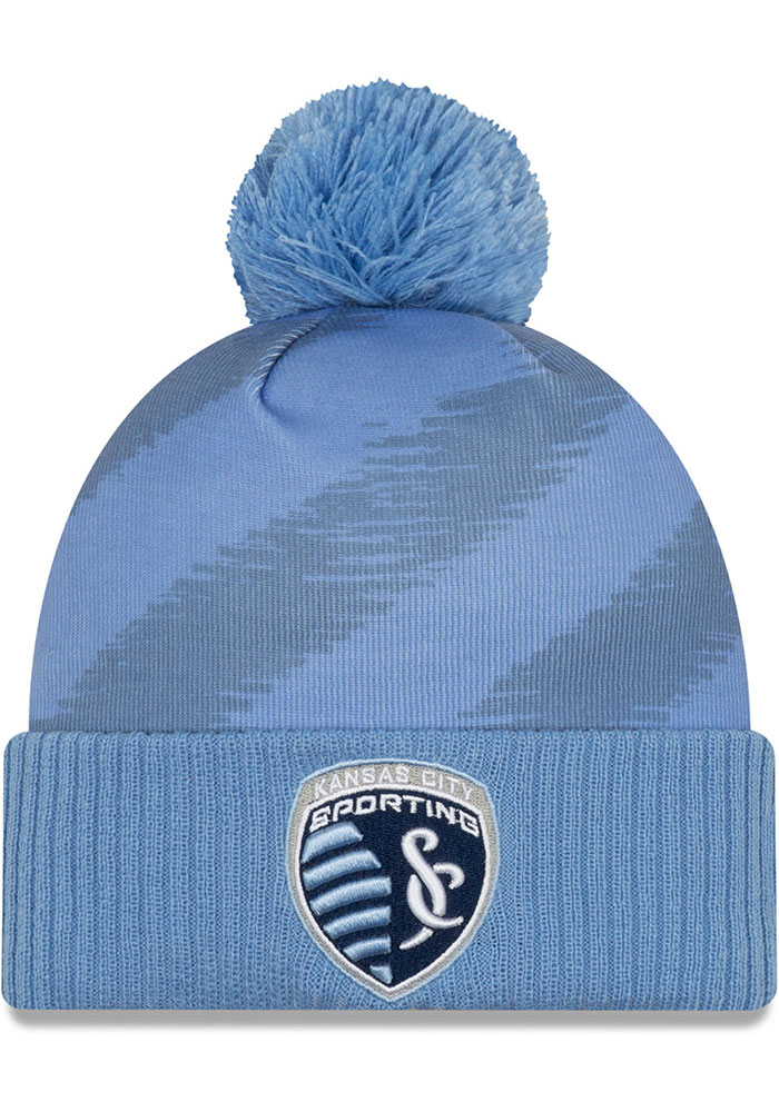 New Era Sporting Kansas City Light Blue 2020 Jersey Hook Cuff Knit Knit Hat