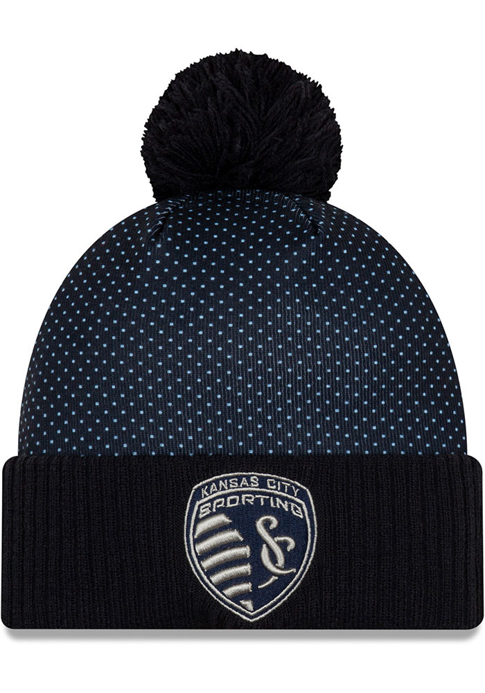 New Era Sporting Kansas City Navy Blue 2020 Jersey Hook Cuff Knit Knit Hat