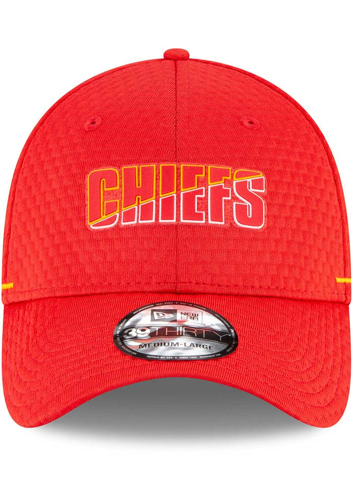 New Era Kansas City Chiefs Red NFL20 Official Training JR 39THIRTY Youth Flex Hat - Image 3