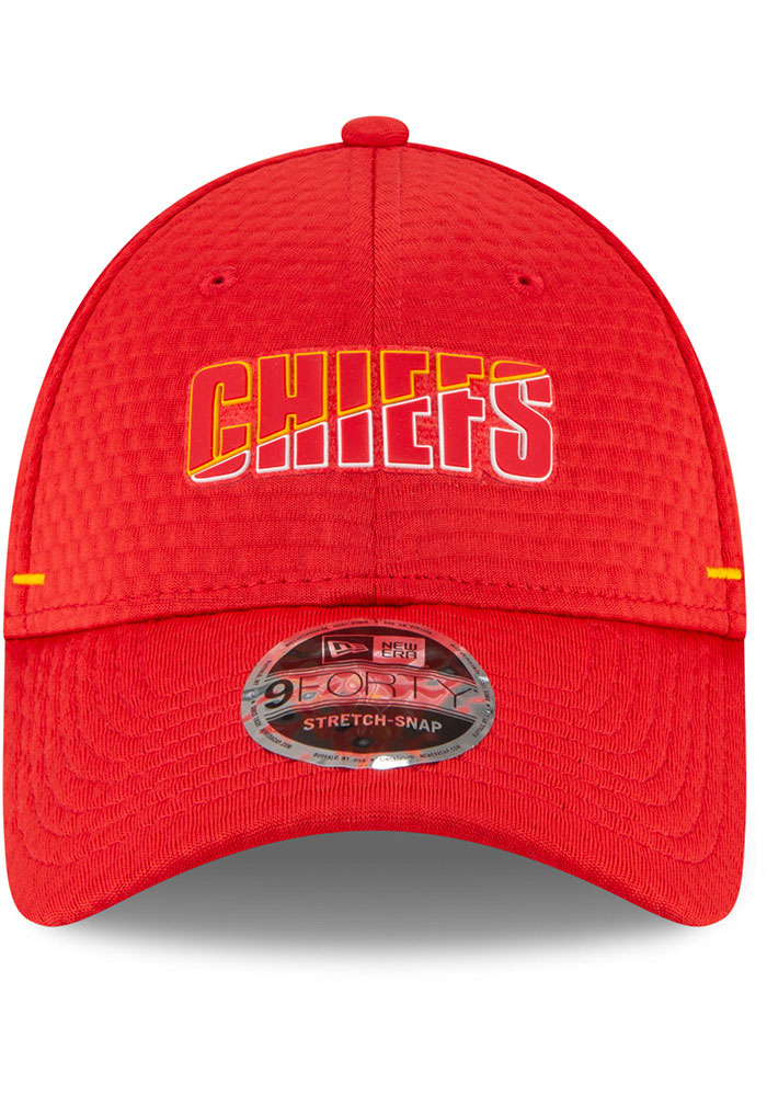New Era Kansas City Chiefs NFL20 Official Training SS 9FORTY Adjustable Hat - Red - Image 3