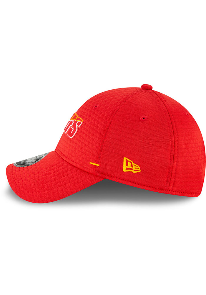 New Era Kansas City Chiefs NFL20 Official Training SS 9FORTY Adjustable Hat - Red - Image 4