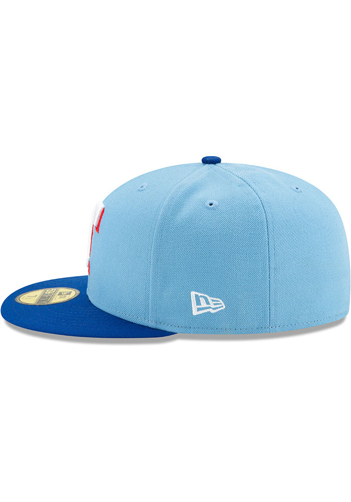 New Era Texas Rangers Mens Light Blue AC Alt 2 59FIFTY Fitted Hat - Image 4