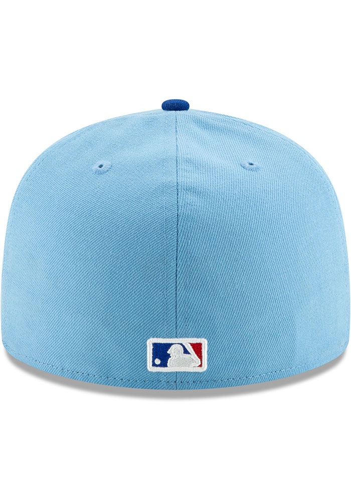 New Era Texas Rangers Mens Light Blue AC Alt 2 59FIFTY Fitted Hat - Image 5
