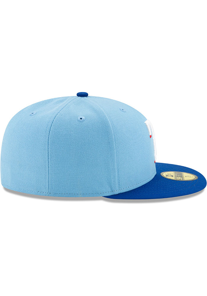 New Era Texas Rangers Mens Light Blue AC Alt 2 59FIFTY Fitted Hat - Image 6