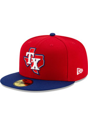Texas Rangers New Era AC Alt 3 59FIFTY Fitted Hat - Red