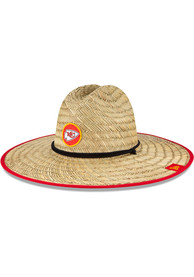 Kansas City Chiefs New Era NFL20 Official Training Straw Bucket Hat - Khaki