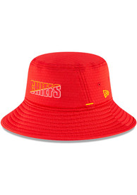 Kansas City Chiefs New Era NFL20 Official Training Bucket Hat - Red