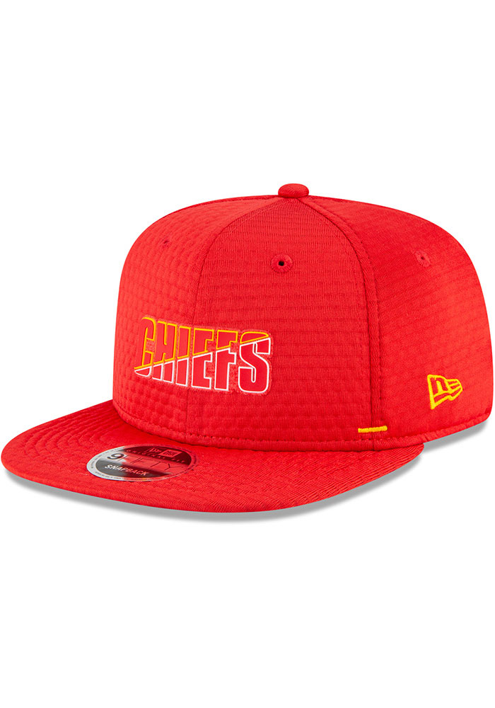 New Era Kansas City Chiefs Red NFL20 Official Training 9FIFTY Mens Snapback Hat - Image 1