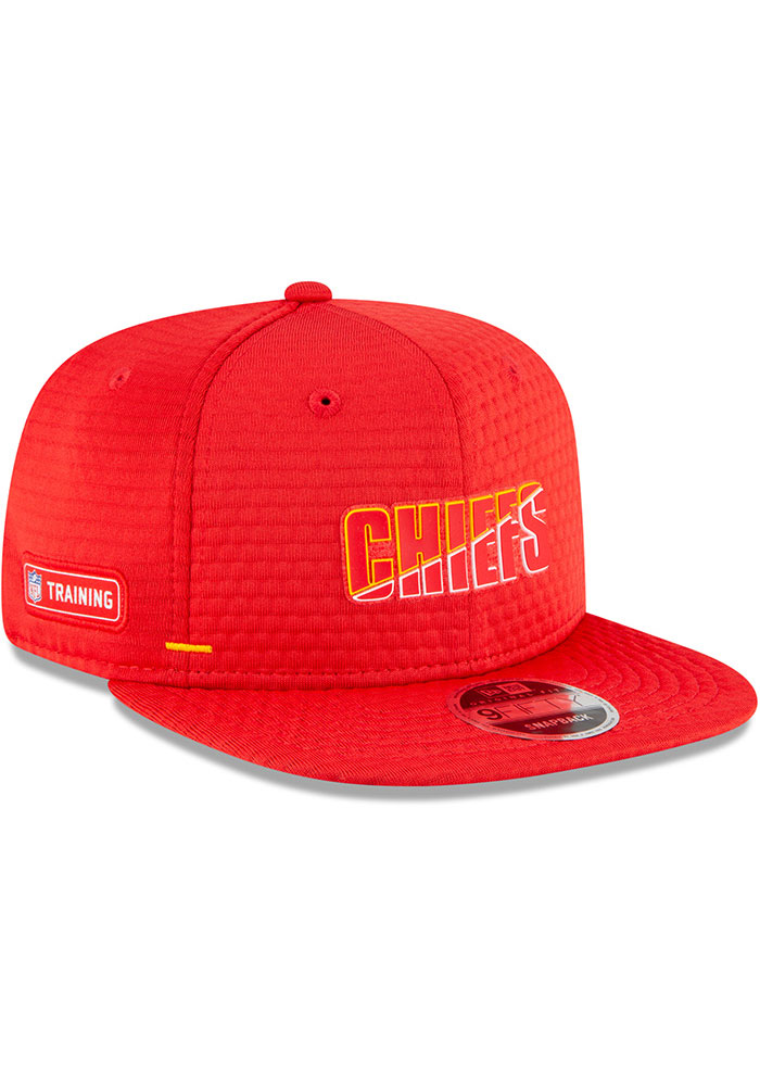 New Era Kansas City Chiefs Red NFL20 Official Training 9FIFTY Mens Snapback Hat - Image 2