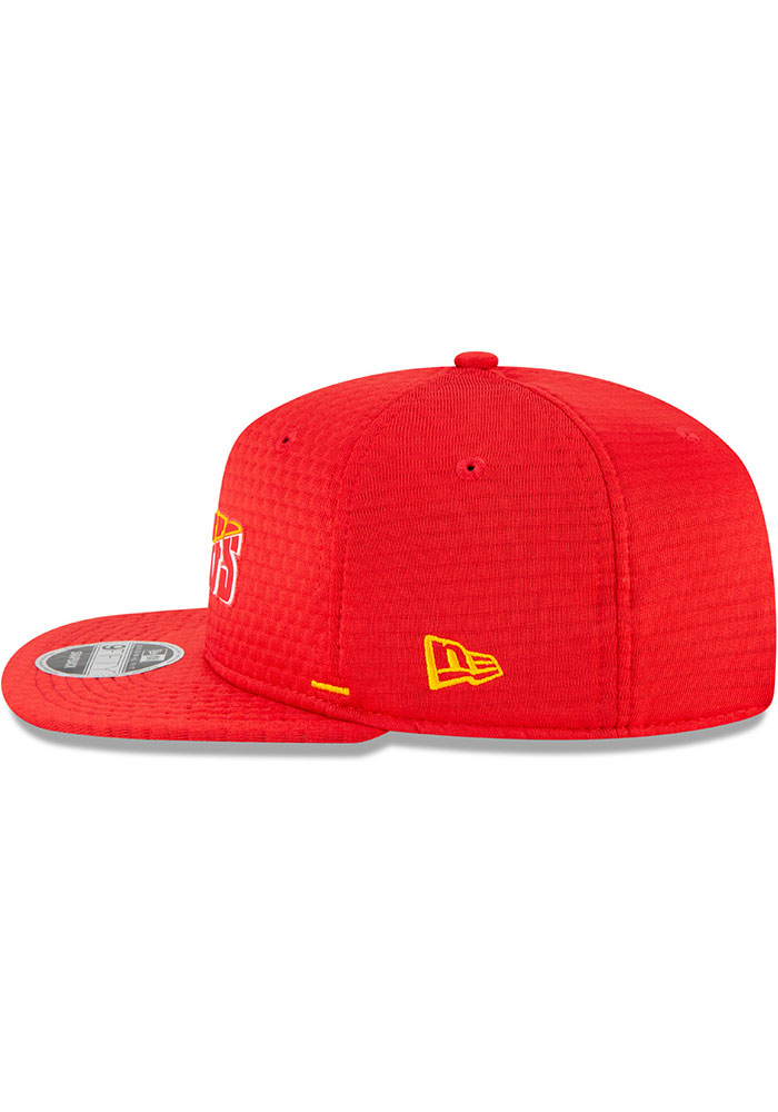 New Era Kansas City Chiefs Red NFL20 Official Training 9FIFTY Mens Snapback Hat - Image 4