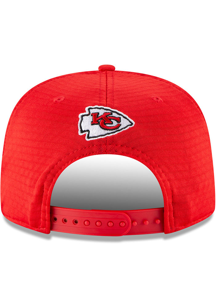 New Era Kansas City Chiefs Red NFL20 Official Training 9FIFTY Mens Snapback Hat - Image 5
