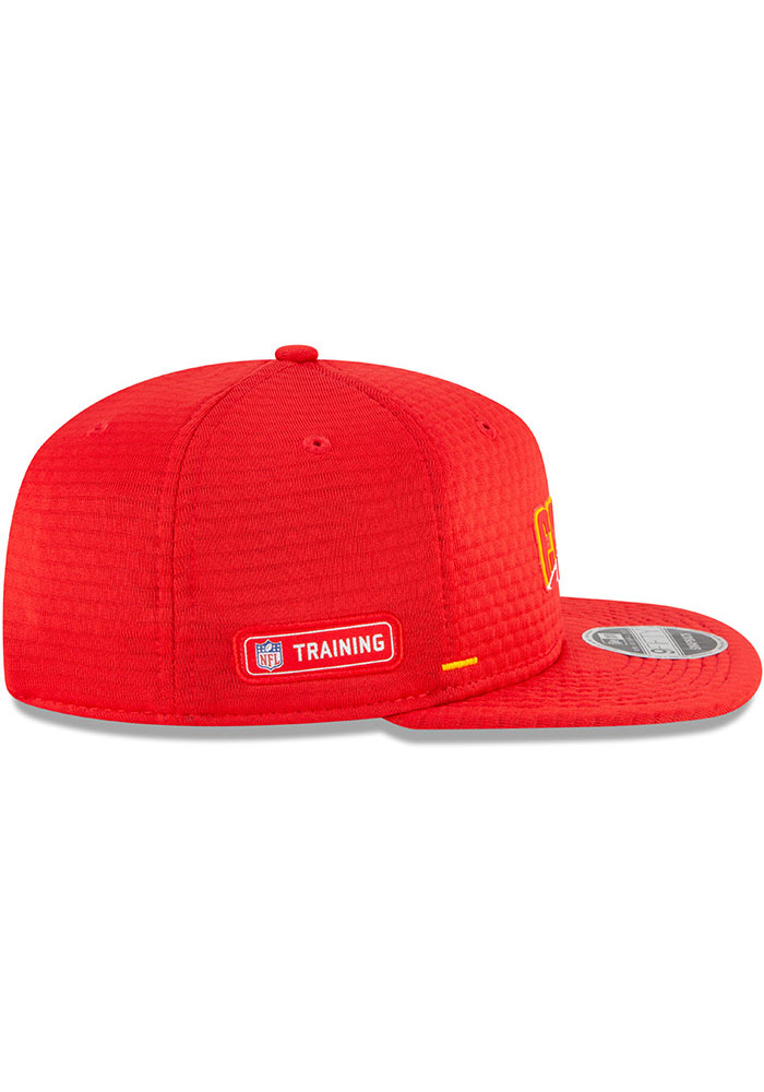 New Era Kansas City Chiefs Red NFL20 Official Training 9FIFTY Mens Snapback Hat - Image 6