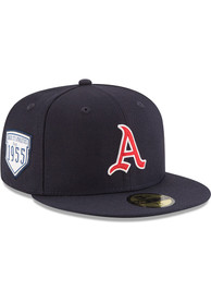 Kansas City Athletics New Era 1955 Inaugural Patch 59FIFTY Fitted Hat - Navy Blue