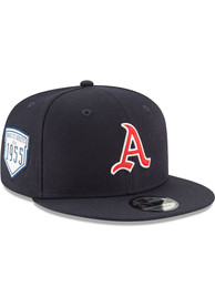 Kansas City Athletics New Era 1955 Inaugural Patch 9FIFTY Snapback - Navy Blue