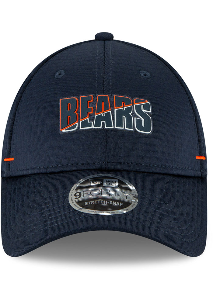 New Era Chicago Bears NFL20 Official Training Stretch Snap 9FORTY Adjustable Hat - Navy Blue - Image 3