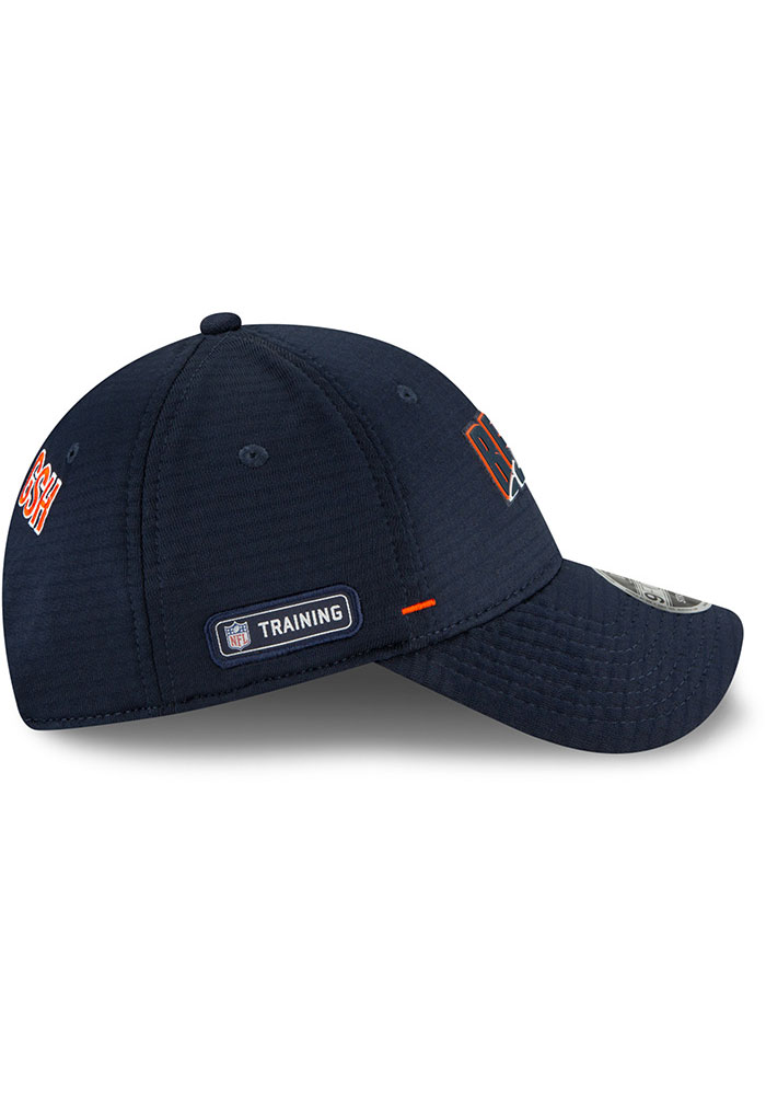 New Era Chicago Bears NFL20 Official Training Stretch Snap 9FORTY Adjustable Hat - Navy Blue - Image 6