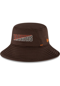 Cleveland Browns New Era NFL20 Official Training Bucket Hat - Brown