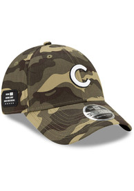 Chicago Cubs New Era 2021 Armed Forces Day SS 9FORTY Adjustable Hat - Green