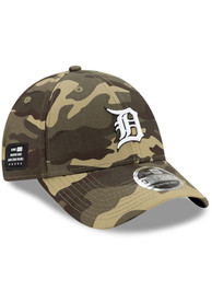 Detroit Tigers New Era 2021 Armed Forces Day SS 9FORTY Adjustable Hat - Green