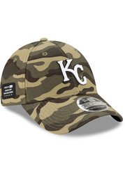 Kansas City Royals New Era 2021 Armed Forces Day SS 9FORTY Adjustable Hat - Green