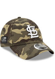 St Louis Cardinals New Era 2021 Armed Forces Day SS 9FORTY Adjustable Hat - Green