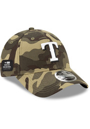 Texas Rangers New Era 2021 Armed Forces Day SS 9FORTY Adjustable Hat - Green