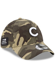 Chicago Cubs New Era 2021 Armed Forces Day 39THIRTY Flex Hat - Green