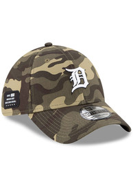 Detroit Tigers New Era 2021 Armed Forces Day 39THIRTY Flex Hat - Green