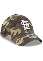 St Louis Cardinals New Era 2021 Armed Forces Day 39THIRTY Flex Hat - Green